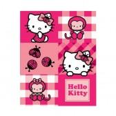 Hello Kitty Ladybug fleece blanket