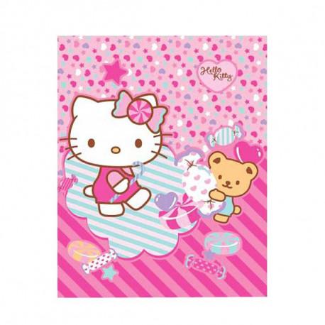 Plaid polaire Hello Kitty Nounours