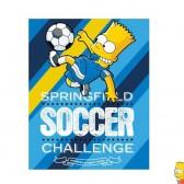 Coperta in pile Bart Simpson