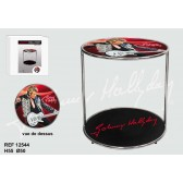 Table basse Johnny Hallyday rouge