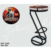 Lot de 2 tabourets Bar Johnny Hallyday Orange