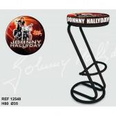 Lot de 2 tabourets Bar Johnny Hallyday Orange