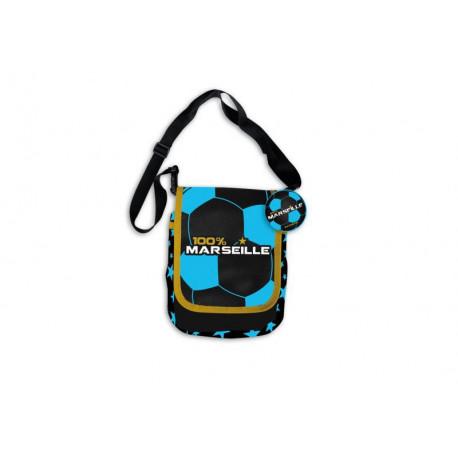 Marseille blue and black satchel