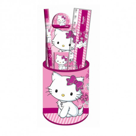 Set scolaire pot a crayons Charmmy Kitty