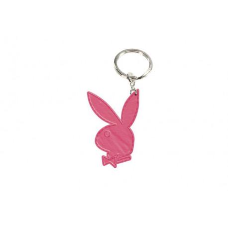 Lleva clave cuero Playboy rosa