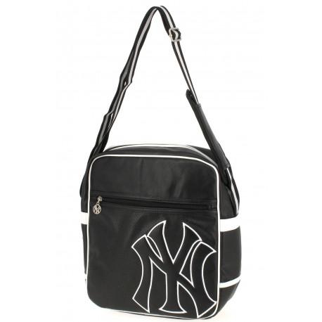 Sac besace New York Yankees noir 33 CM Style Cuir