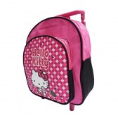 Sac cartable a roulettes Hello Kitty maternelle 30 CM
