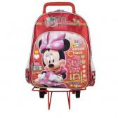 Sac à roulettes Minnie Traveler rouge 40 CM HAUT DE GAMME - Cartable