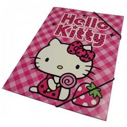 Chemise élastique Hello Kitty A4 Fraise