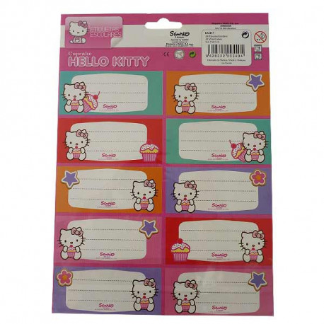 20 étiquettes Hello Kitty