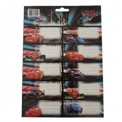 20 labels Cars Disney