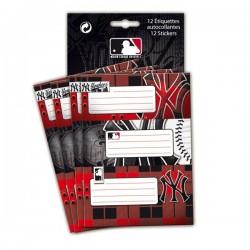 Lot de 12 étiquettes New York Yankees