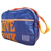 Bag reporter Love Pink Blue 38 CM