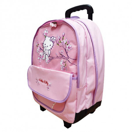 Sac à roulettes Hello Kitty 44 CM Rose Haut de gamme