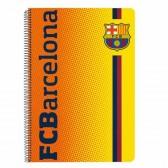 Cahier spirale A4 FC Barcelone - Logo bleu - FCB