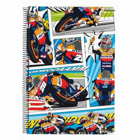 Cahier spirale A4 Repsol Honda