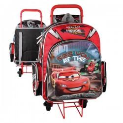 Sac à roulettes Cars Disney 41 CM Haut de Gamme - Cartable