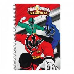 Cahier spirale A4 Power Rangers Samourai
