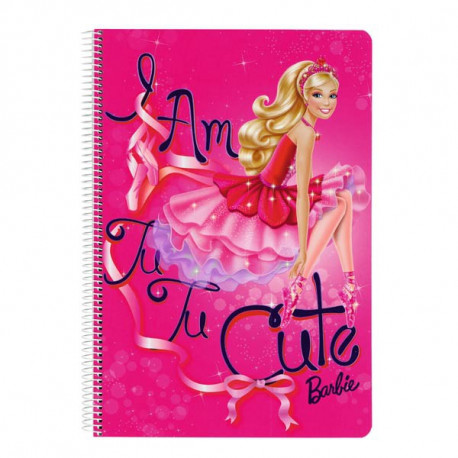Spiralhefte A4-Barbie Girl-Star