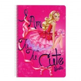 Cahier spirale A4 Barbie Girl Star