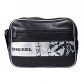 Sac reporter Diesel Noir Legend 37 CM Haut de gamme