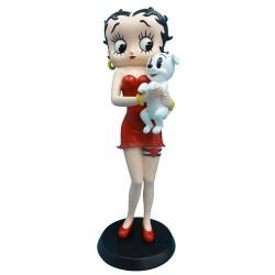Estatuilla Betty Boop tomando Pudgy