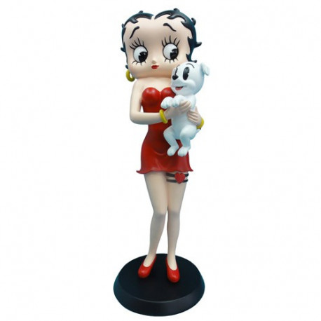 Statuette Betty Boop unter Pudgy
