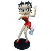 Betty Boop rode jurk met Pudgy beeldje