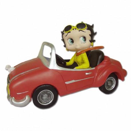 Statuette Betty Boop Voiture de sport