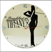 Clock glass Audrey Hepburn Tiffanys