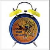 Alarm clock blue Marsupilami metal