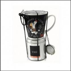 Droopy taza con caja de té