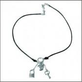 Halskette-Titi-Chrom