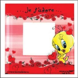 Glass Tweety Adorable photo frame