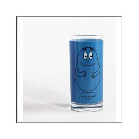 Barbapapà blu vetro