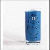 Barbapapa blue glass