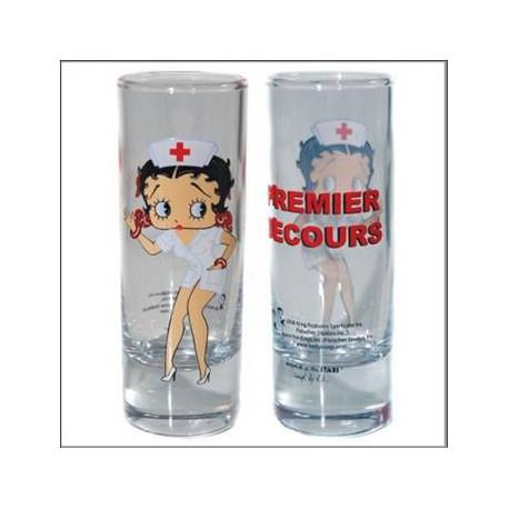 Mini Glas Betty Boop Krankenschwester