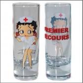 Mini glass Betty Boop nurse