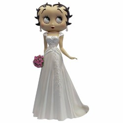 Beeldje Betty Boop trouwjurk