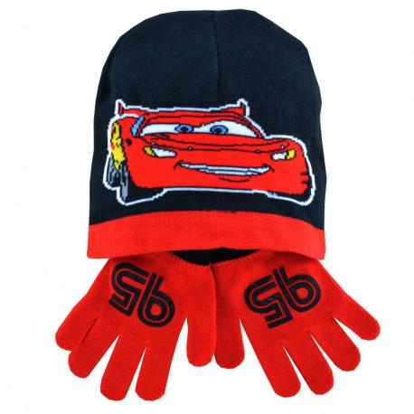Ensemble bonnet + gants Cars Noir & Rouge
