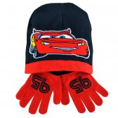 Alle CAP + Handschuhe Autos schwarz & rot