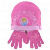 Ensemble bonnet et gants Princesse Fushia