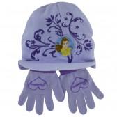 Ensemble bonnet et gants Princesse Violet