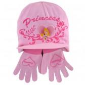 Tutti cappello e guanti principessa rosa