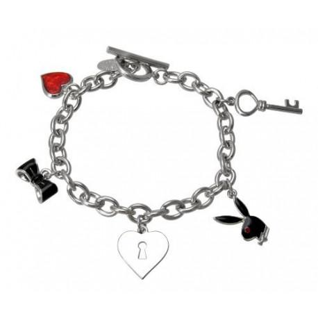 Bracelet charms Playboy Bunny black