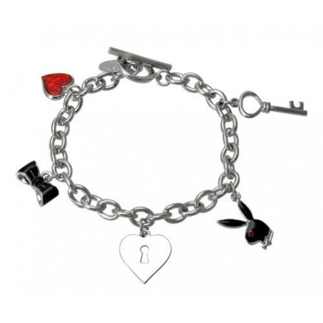 Bracelet charms Playboy Bunny Noir