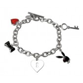 Bracelet charms Playboy Bunny black