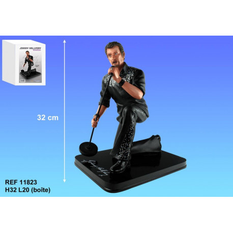 Figurine Johnny Hallyday Chanteur 32 CM