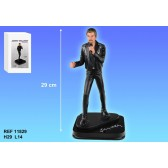 Figura Johnny Hallyday negro traje 29 CM