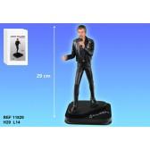 Figurine Johnny Hallyday Costume noir 29 CM